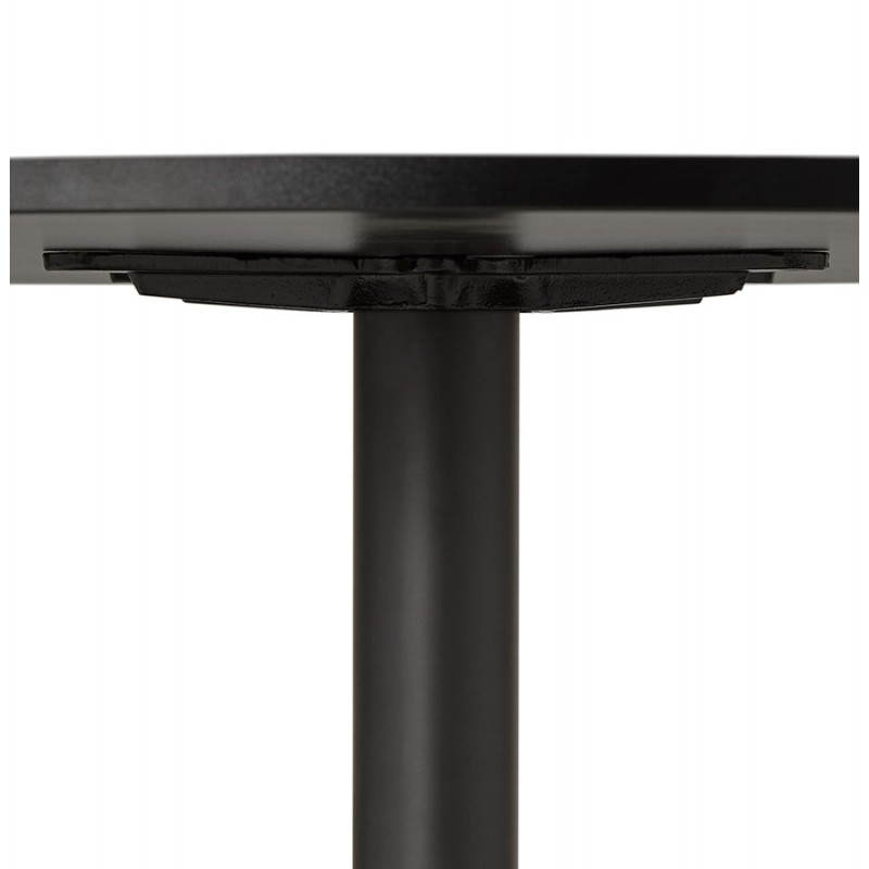 Mesa de comedor o escritorio diseño madera NILS y metal pintado (O 90 cm) (negro) - image 28408