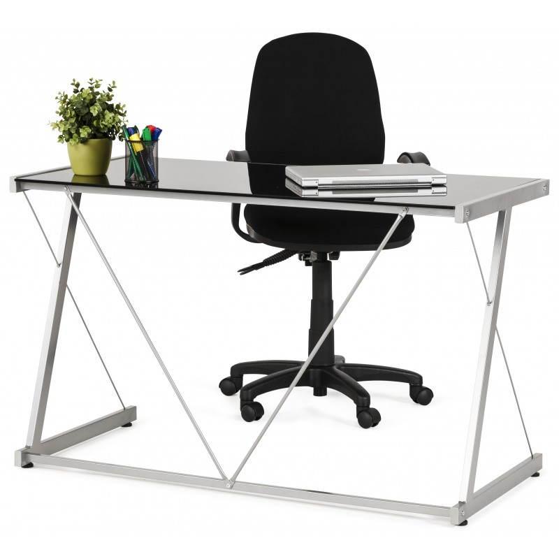 Chaise de bureau ergonomique à roulettes BELOU en tissu (noir) - image 28413
