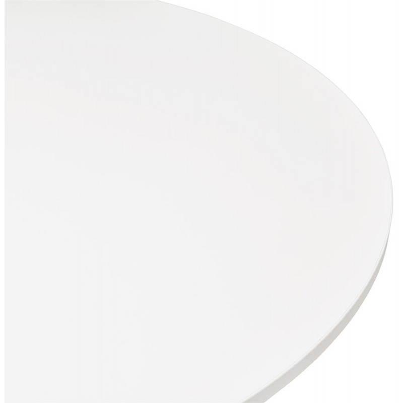 Table de bureau ou repas design ronde ASTA en bois et métal chromé (Ø 120 cm) (blanc) - image 28418