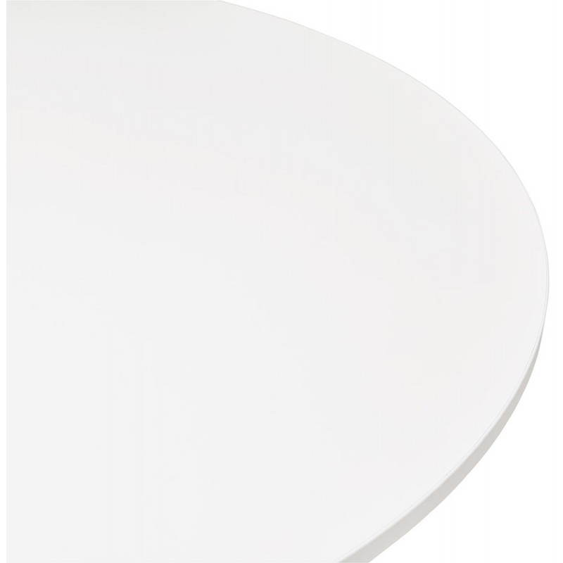 Dining table or desk round design NILS wood and metal chrome (O 90 cm) (white) - image 28428