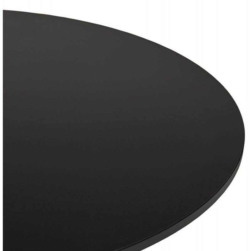 Table de repas ou bureau ronde design NILS en bois et métal chromé (Ø 90 cm) (noir) - image 28448