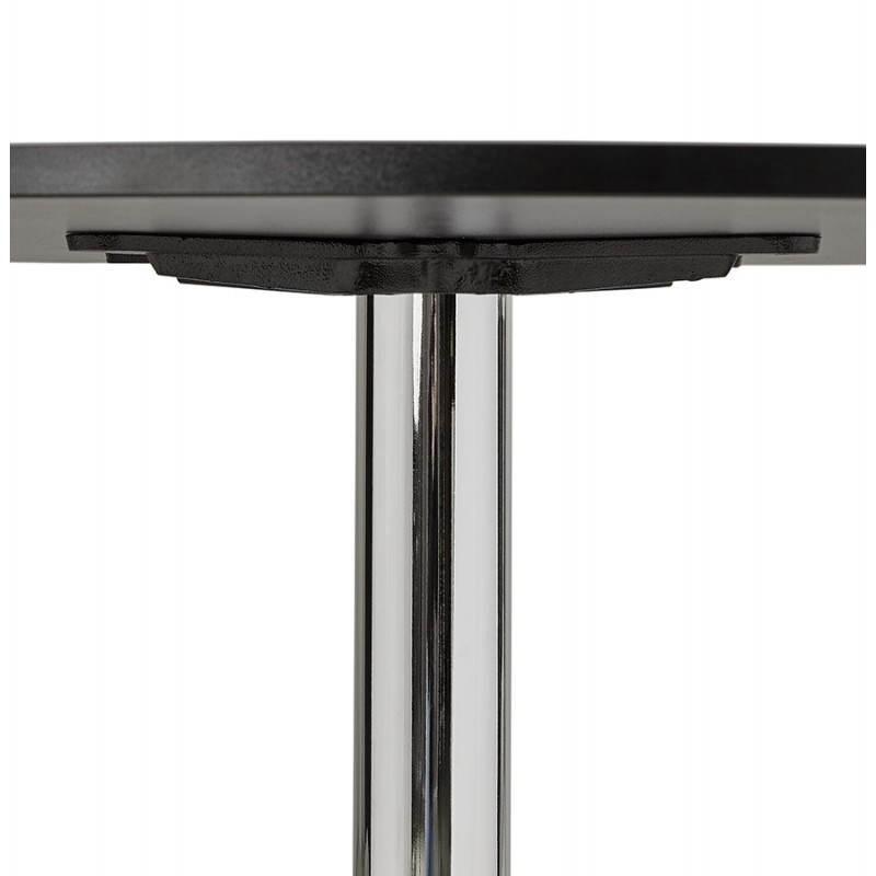 Table de repas ou bureau ronde design NILS en bois et métal chromé (Ø 90 cm) (noir) - image 28451