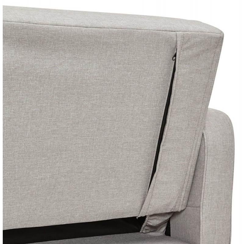 Canapé convertible scandinave capitonné 3 places URSULA en tissu (gris) - image 28467