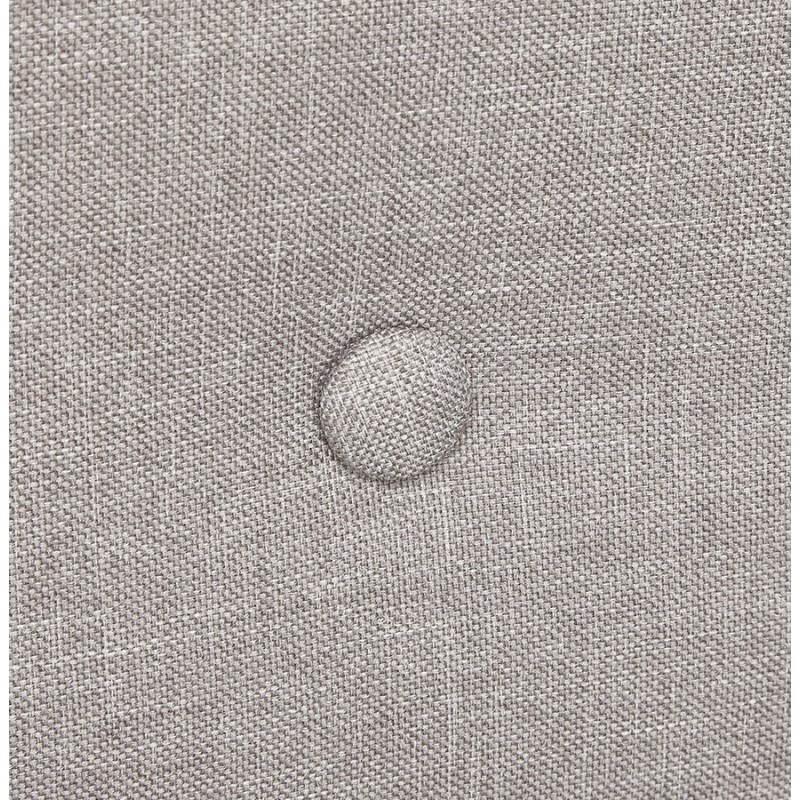 Canapé fixe scandinave capitonné 3 places LUCIA en tissu (gris) - image 28491