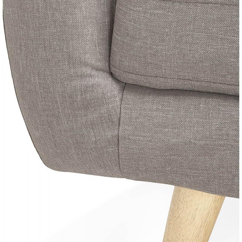 Canapé fixe scandinave capitonné 3 places LUCIA en tissu (gris) - image 28494