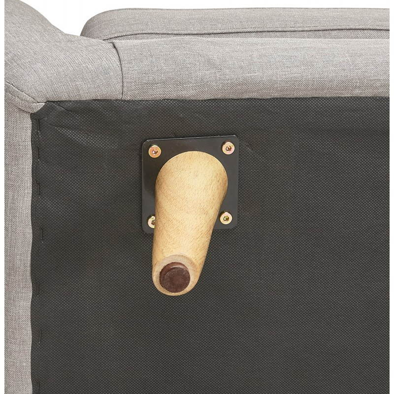 Canapé fixe scandinave capitonné 3 places LUCIA en tissu (gris) - image 28501