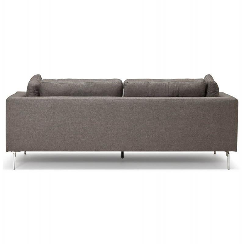 Moderno sofá fijo 3 lugares a tela de IRINA (gris oscuro) - image 28508