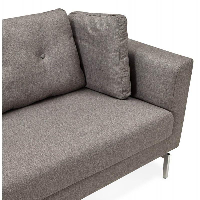 Moderno sofá fijo 3 lugares a tela de IRINA (gris oscuro) - image 28509
