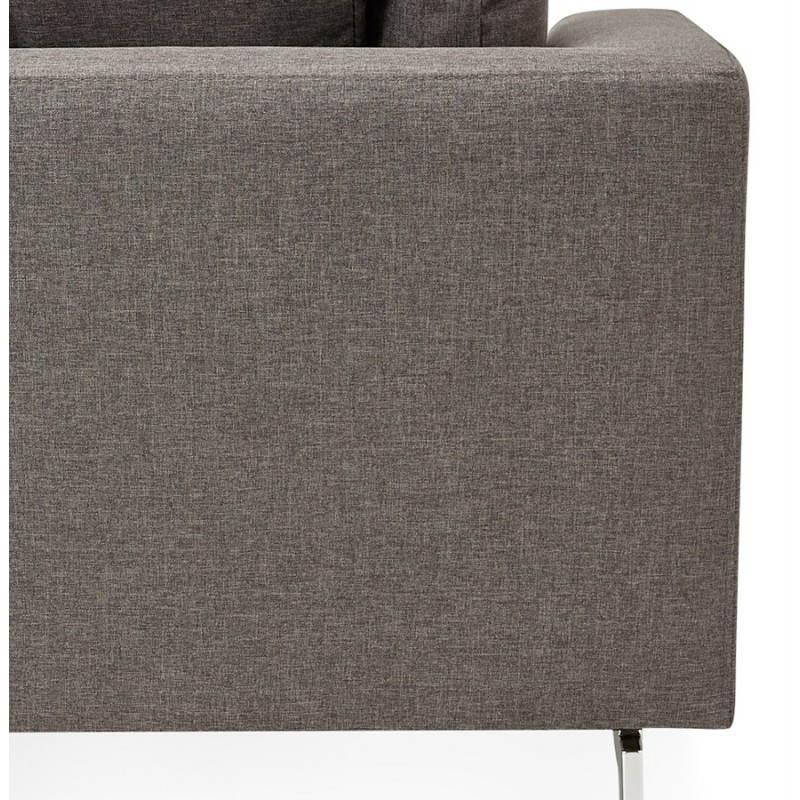 Moderno sofá fijo 3 lugares a tela de IRINA (gris oscuro) - image 28516