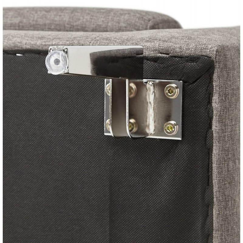 Moderno sofá fijo 3 lugares a tela de IRINA (gris oscuro) - image 28518