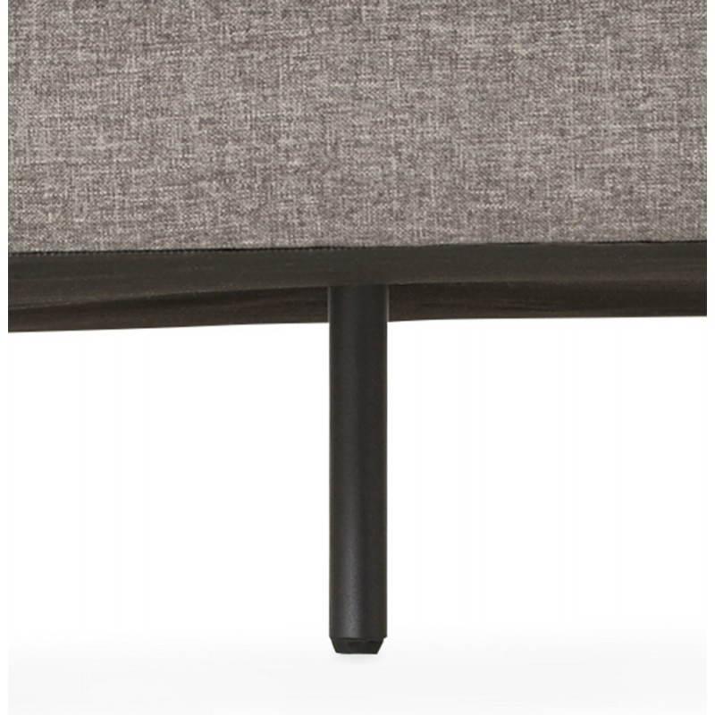 Moderno sofá fijo 3 lugares a tela de IRINA (gris oscuro) - image 28519