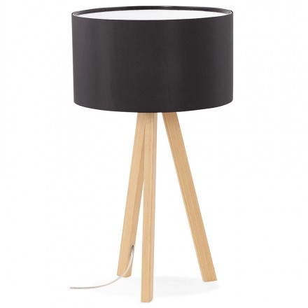 Lampe de table sur trépied scandinave TRANI MINI  (noir)