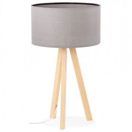 Table lamp TRANI MINI on tripod with shade (grey)