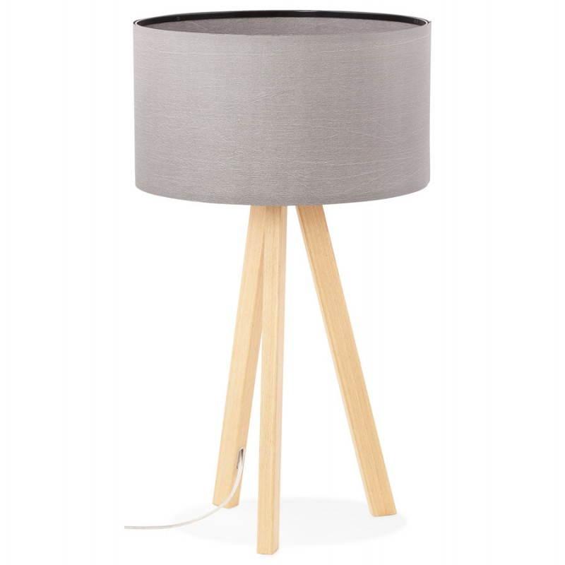 Lampe de table TRANI MINI sur trépied avec abat jour (gris)