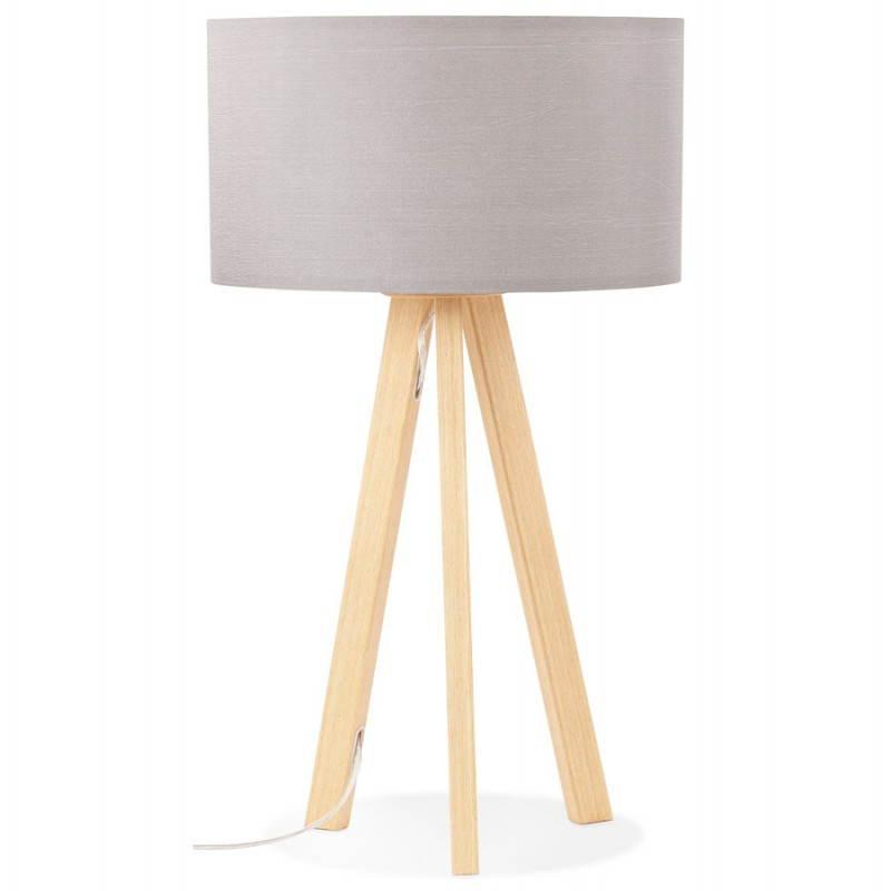 Lampe de table TRANI MINI sur trépied avec abat jour (gris) - image 28552