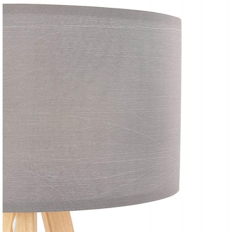Lampe de table TRANI MINI sur trépied avec abat jour (gris) - image 28553