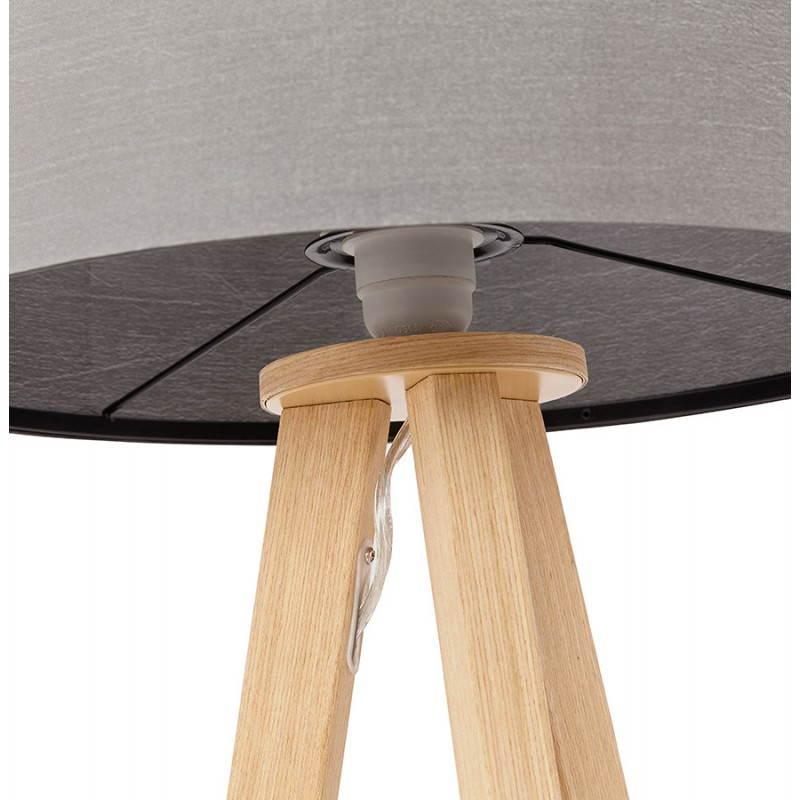 Lampe de table TRANI MINI sur trépied avec abat jour (gris) - image 28557