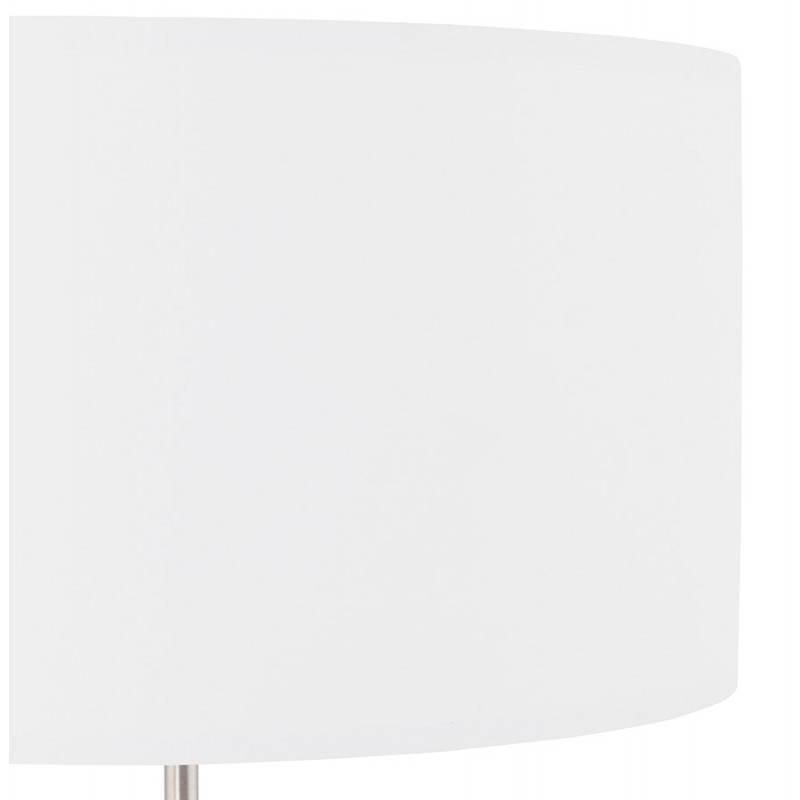 Lampe de table design réglable en hauteur LATIUM en tissu (blanc) - image 28685