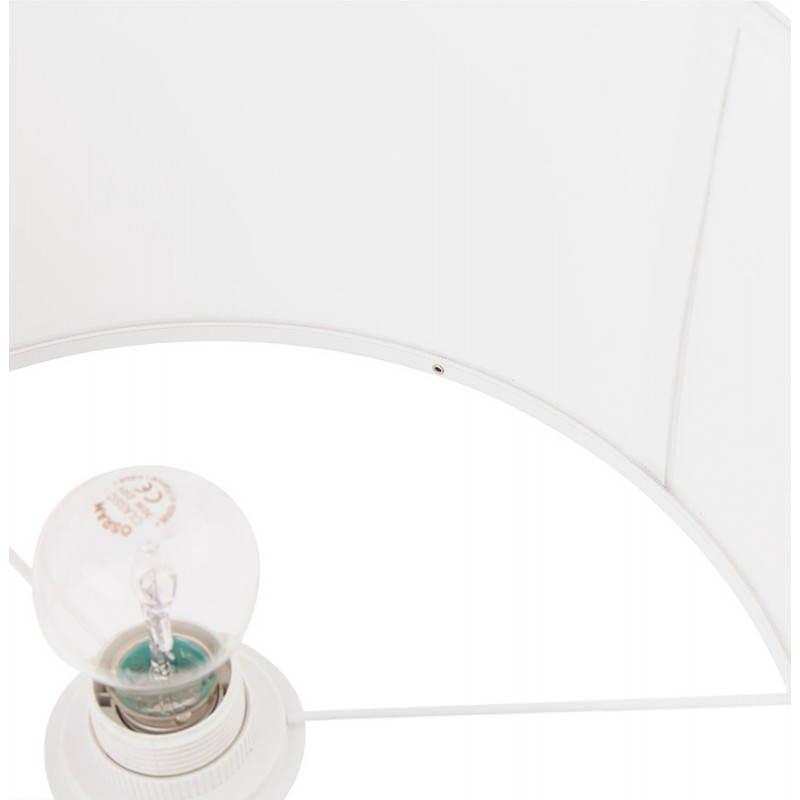 Lampe de table design réglable en hauteur LATIUM en tissu (blanc) - image 28688