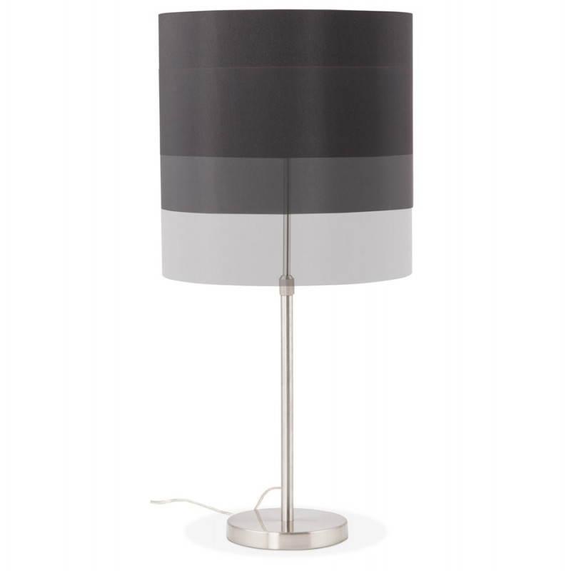 Lampe de table design réglable en hauteur LATIUM en tissu (noir) - image 28709
