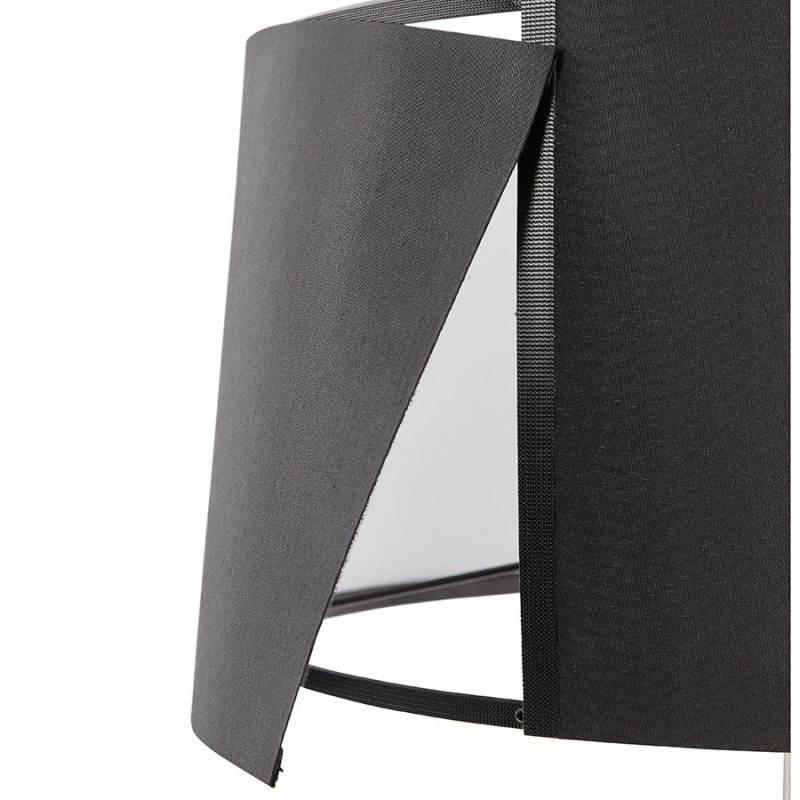 Lampe de table design réglable en hauteur LATIUM en tissu (noir) - image 28711