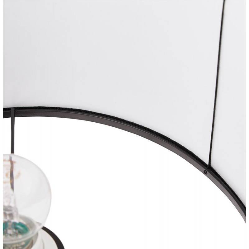 Lampe de table design réglable en hauteur LATIUM en tissu (noir) - image 28713