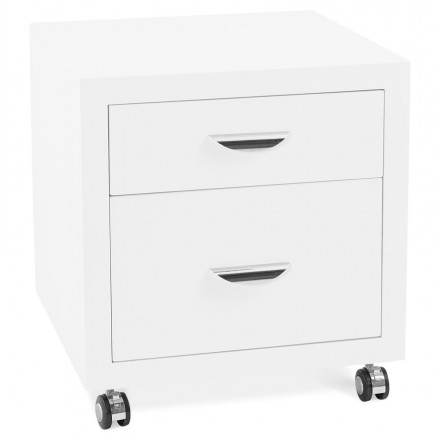 Desktop subwoofer 2 FOREST wooden drawers (painted white)