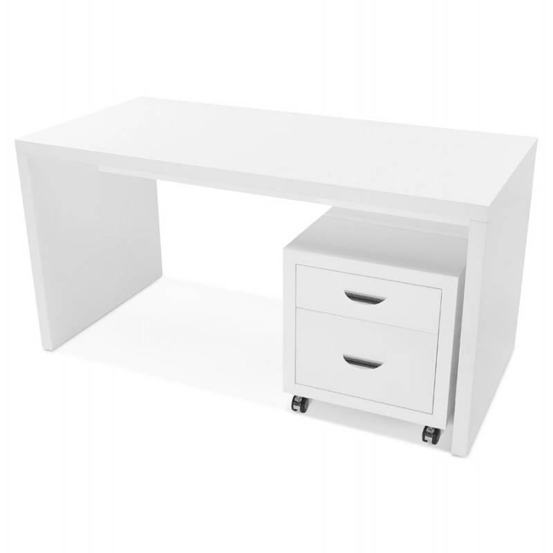 caisson de bureau 2 tiroirs forest en bois blanc laqu. Black Bedroom Furniture Sets. Home Design Ideas