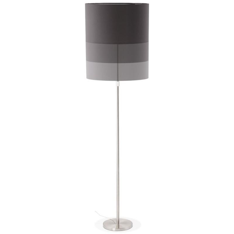 Lampe sur pied design réglable en hauteur LATIUM en tissu (noir) - image 28959