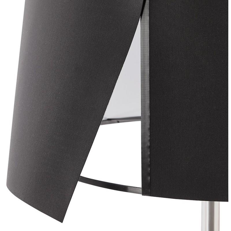 Lampe sur pied design réglable en hauteur LATIUM en tissu (noir) - image 28961