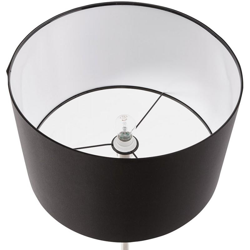 Lampe sur pied design réglable en hauteur LATIUM en tissu (noir) - image 28962