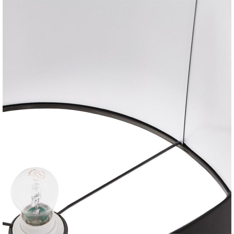 Lampe sur pied design réglable en hauteur LATIUM en tissu (noir) - image 28963