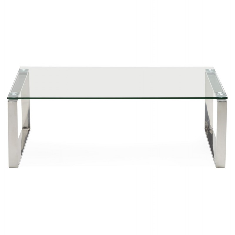 Table basse rectangulaire design betty en verre transparent - Table basse design rectangulaire ...