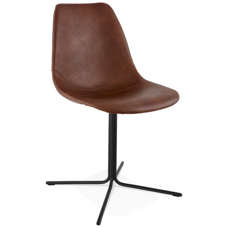 chaise industrielle ofen en polyur thane et m tal peint. Black Bedroom Furniture Sets. Home Design Ideas