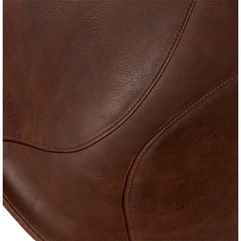 Chaise industrielle OFEN en polyuréthane et métal peint (marron, noir) - image 28999