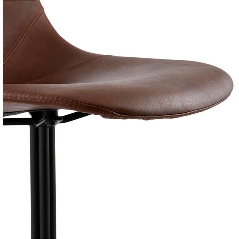 Chaise industrielle OFEN en polyuréthane et métal peint (marron, noir) - image 29002