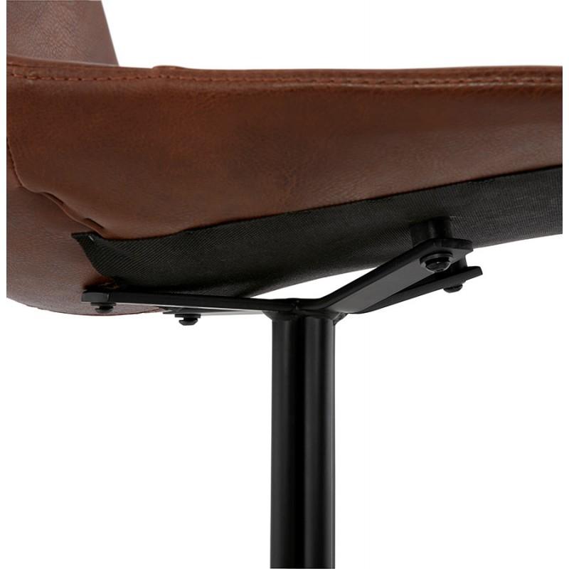 Chaise industrielle OFEN en polyuréthane et métal peint (marron, noir) - image 29004