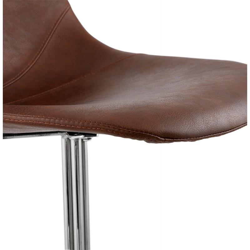 Chaise design OFEN en polyuréthane et métal chromé (marron, chrome) - image 29017
