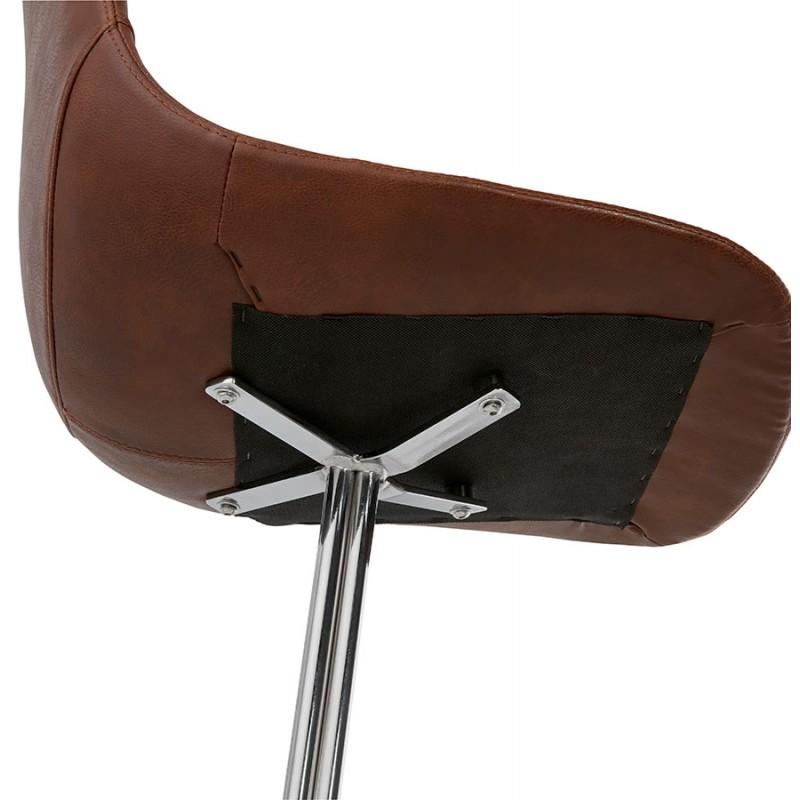 Chaise design OFEN en polyuréthane et métal chromé (marron, chrome) - image 29020
