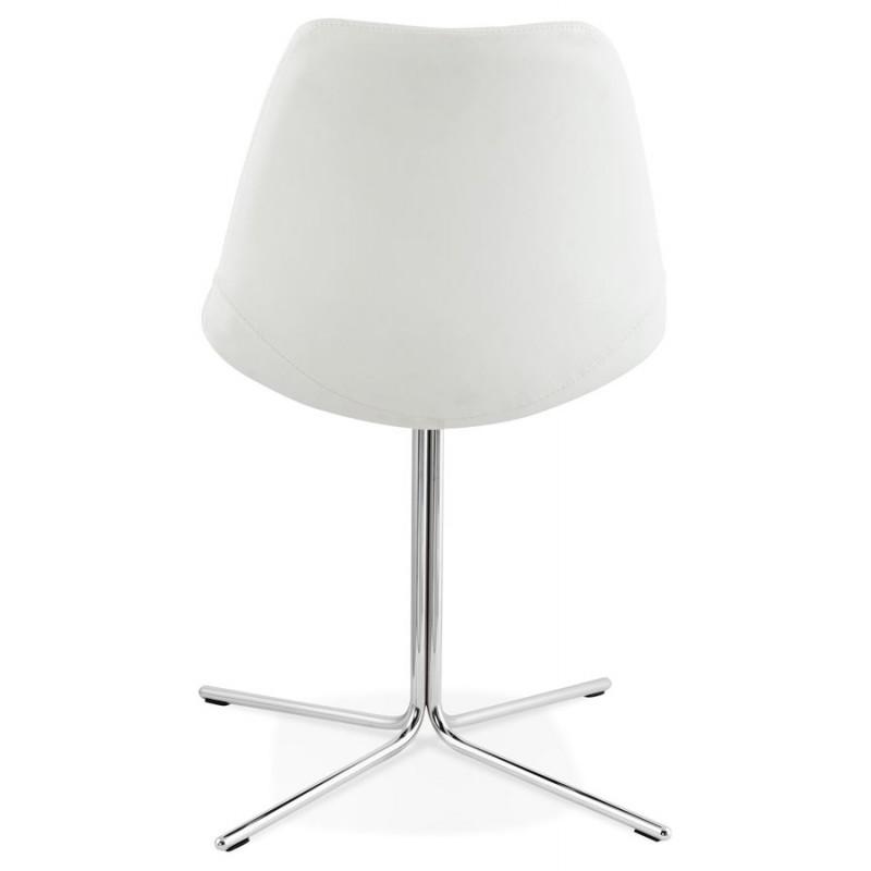 Chaise design OFEN en polyuréthane et métal chromé (blanc, chrome) - image 29028