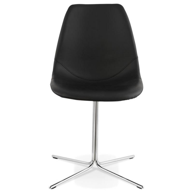 Chaise design OFEN en polyuréthane et métal chromé (noir, chrome) - image 29037