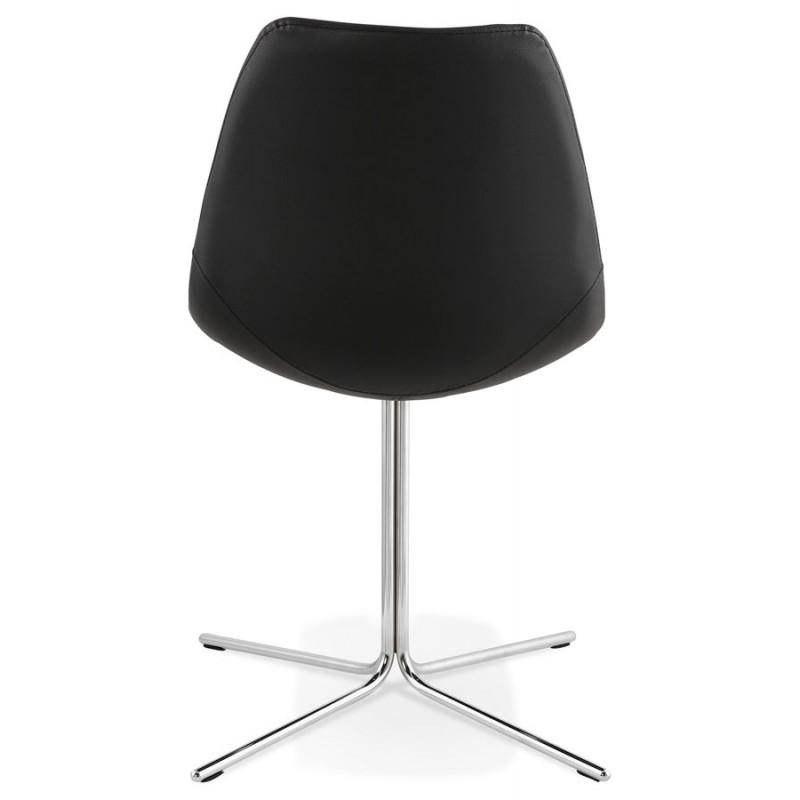 Chaise design OFEN en polyuréthane et métal chromé (noir, chrome) - image 29040