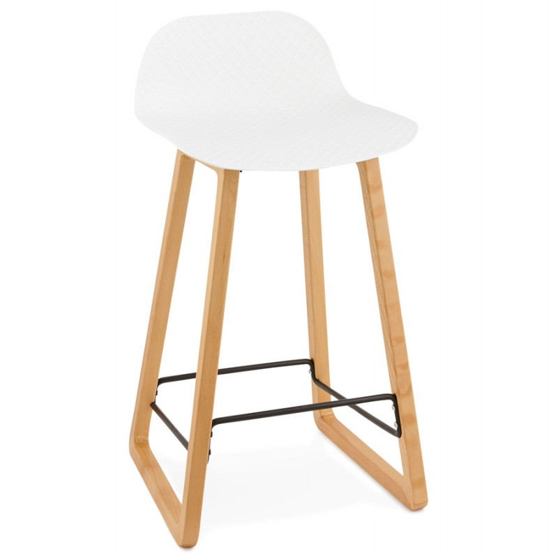 tabouret de bar chaise de bar mi hauteur scandinave scarlett mini blanc. Black Bedroom Furniture Sets. Home Design Ideas