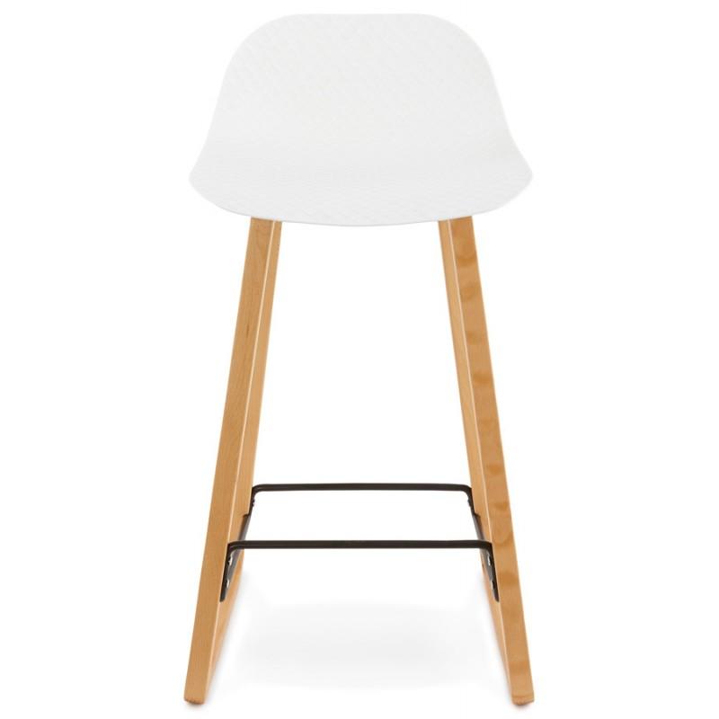 Tabouret de bar chaise de bar mi-hauteur scandinave SCARLETT MINI (blanc) - image 29063