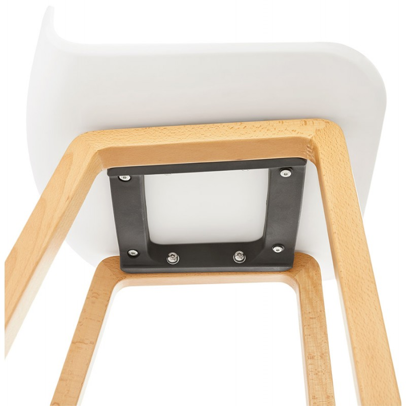 Tabouret de bar chaise de bar mi-hauteur scandinave SCARLETT MINI (blanc) - image 29070