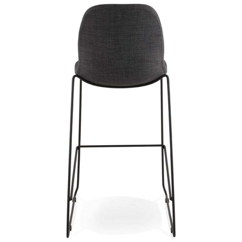 Tabouret de bar chaise de bar design empilable DOLY en tissu (gris foncé) - image 29079