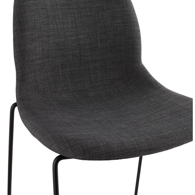 tabouret de bar chaise de bar design doly en tissu gris fonc. Black Bedroom Furniture Sets. Home Design Ideas
