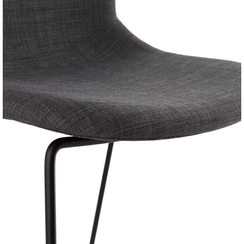 Tabouret de bar chaise de bar design empilable DOLY en tissu (gris foncé) - image 29081