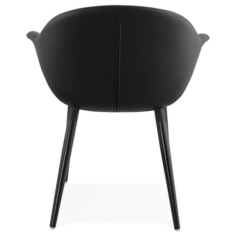 Fauteuil chaise design et moderne ORLY (noir) - image 29093