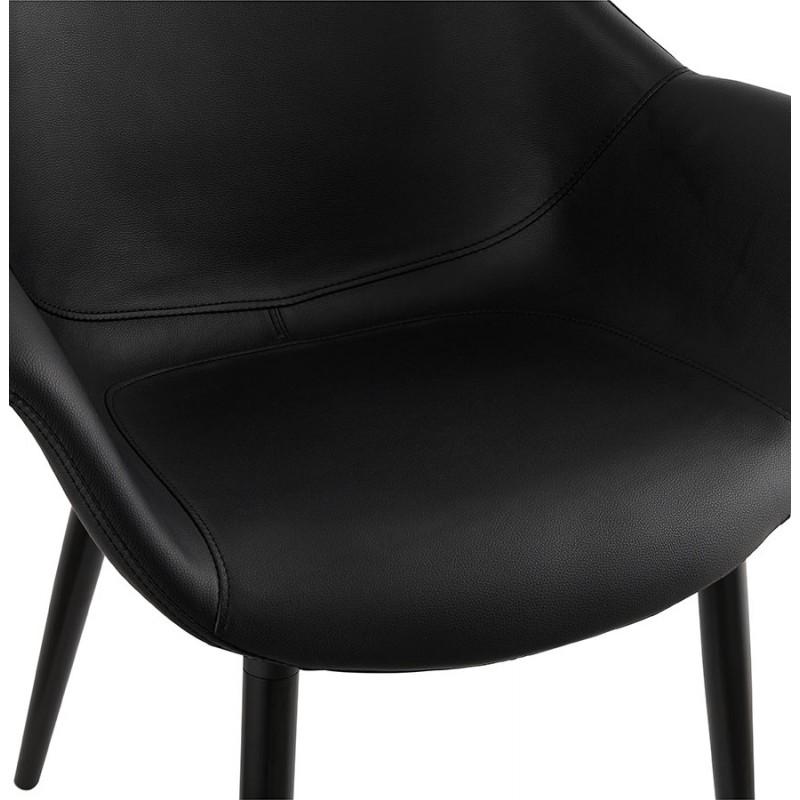 Fauteuil chaise design et moderne ORLY (noir) - image 29094